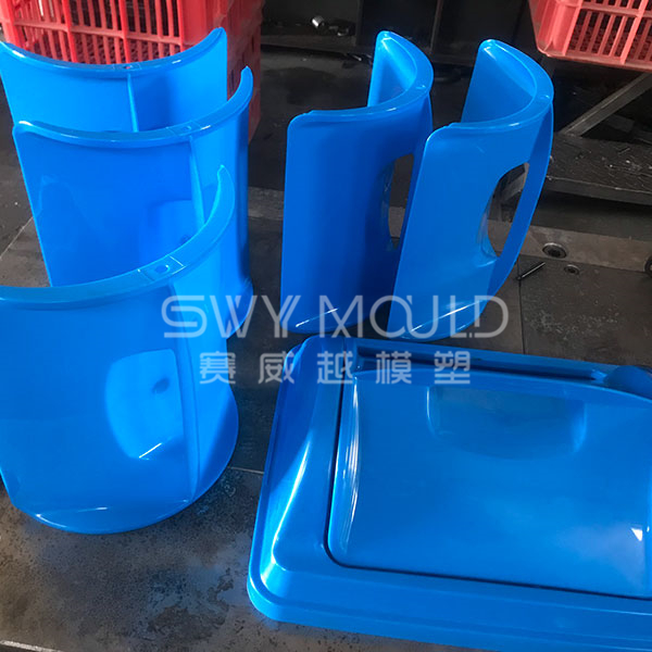 Ash-bin Rotatable Cover Injection Mold