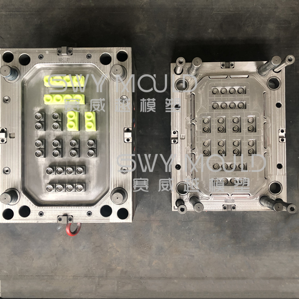 Injection Mould Of Baby Soft Rubber Building Blocks